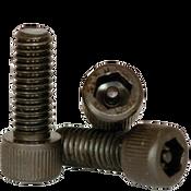 """#10-24x1 1/4"""",(PT) Socket Cap Screws w/Pin Tamper Resistant Security Screws, Thermal Black Oxide (100/Pkg.)"""