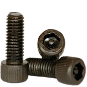 "#10-32x1 1/4"",(PT) Socket Cap Screws w/Pin Tamper Resistant Security Screws, Thermal Black Oxide (100/Pkg.)"