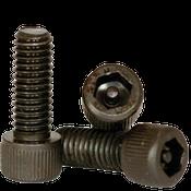"""#10-32x1 1/4"""",(PT) Socket Cap Screws w/Pin Tamper Resistant Security Screws, Thermal Black Oxide (100/Pkg.)"""
