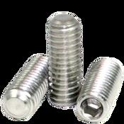 "1/4""-20x1 1/4"" Socket Set Screws Flat Point, 18-8 Stainless Steel (100/Pkg.)"