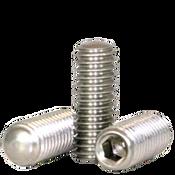 "#10-24x3/4"" Socket Set Screws Oval Point, 18-8 Stainless Steel (100/Pkg.)"