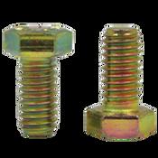 "5/8""-11x3 1/2"", Partially Threaded Hex Cap Screws Grade 8 Coarse Zinc-Yellow Cr+6 Bake (100/Bulk Pkg.)"