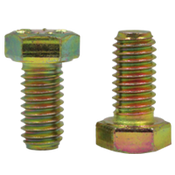 "7/8""-9x6"", Partially Threaded Hex Cap Screws Grade 8 Coarse Zinc-Yellow Cr+6 Bake (30/Bulk Pkg.)"