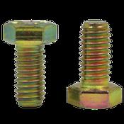 "1/2""-13x1 1/8"", (FT) Hex Cap Screws Grade 8 Coarse Zinc-Yellow Cr+6 Bake (400/Bulk Pkg.)"