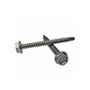 "#10-16x1"",(FT) Indented Hex Washer Head Unslotted, #3 Point BSD Self Drilling Screws Hardened Stainless Steel 410 (3000/Bulk Pkg.)"