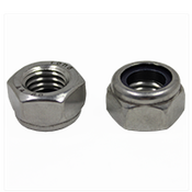 M5-0.80 DIN 985 Nylon Insert Locknuts Coarse Stainless A4-70 (100/Pkg.)