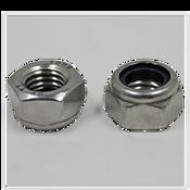 M8-1.25 DIN 985 Nylon Insert Locknuts Coarse Stainless A4-70 (100/Pkg.)