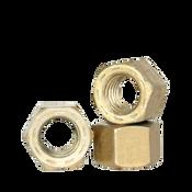"""7/16""""-20 PFC9, Hex All Metal Locknuts, Cad Yellow / Wax (USA) (50/Pkg.)"""