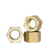 "1/4""-28 PFC9, HEX ALL METAL LOCKNUTS, CAD YELLOW / WAX (USA) (7500/Bulk Pkg.)"