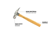 Ripping Claw Polished Face Proferred Hammer (20oz)