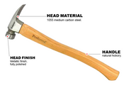 California Framing Milled Face Proferred Hammer (21oz)