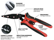 "8"" (7 In 1 Angle Nose) Proferred All Purpose 7 In 1 Angle Nose Pliers"