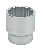 "1"" Standard 12 Point 1/2"" Drive Sae Socket"