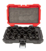 "15 Piece 6 Point Impact Metric Proferred 1/2"" Drive Socket Set"