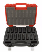 "15 Piece 6 Point Deep Impact Proferred 1/2"" Drive Sae Socket Set"