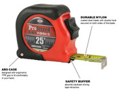 "25 ft-1"" Blade Proferred Tape Measure"