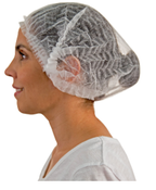 """24"""", White, Pleated Bouffant Cap Head And Shoe Covers (1000/Pkg.)"""