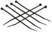 "11"" 50 Lb (0.18""W, 0.06""T) Proferred Nylon 66 Uv Rated 1000 Hrs Black Cable Ties (Pkg/500)"