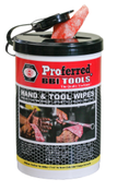 82 Wipes Per Can USA Proferred Hand & Tool Wipes Canister (6/Pkg.)