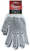LARGE Poly/Cotton Knitted Natural Color W/ Pvc Dots Proferred Industrial Gloves (Pkg/12)