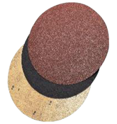 "Fast Grip Double-Sided Floor Sanding Discs - Silicon Carbide - 17"" x No Hole, Grit/ Weight: 60F, Mercer Abrasives 44817060 (20/Pkg.)"