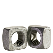 "5/16""-18 Square Nut, Grade 2, Hot Dip Galvanized (250/Pkg.)"