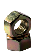 "7/16""-14 Finished Hex Nut, Grade 2, Coarse, Low Carbon Steel , Zinc-Yellow (100/Pkg.)"