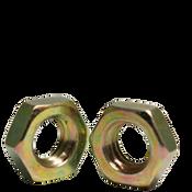 "3/8""-16 Hex Jam Nut, Coarse, Low Carbon Steel  Zinc-Yellow (100/Pkg.)"