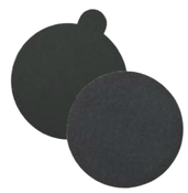 "Silicon Carbide Waterproof Discs - PSA with Tabs - 5"" x No Dust Holes, Grit: 1200C, Mercer Abrasives 522M12 (100/Pkg.)"