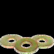 """1"""" SAE Flat Washers Med. Carbon Thru-Hardened Zinc-Yellow (Import) (50/Pkg.)"""