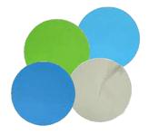 "Aluminum Oxide Micro Finishing Discs - PSA - 5"" x No Dust Holes, Micron Grade: 9u - Grit: 1200, Mercer Abrasives 526500 (50/Pkg.)"