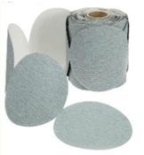 "Platinum Sterated Discs - PSA - 5"" x No Dust Holes - Disc Rolls, Grit/ Weight: 220C, Mercer Abrasives 530220 (100/Pkg.)"
