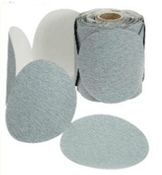 "Platinum Sterated Discs - PSA - 6"" x No Dust Holes - Disc Rolls, Grit/ Weight: 220C, Mercer Abrasives 531220 (100/Pkg.)"