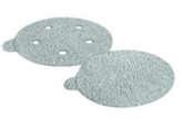 "Platinum Sterated Discs - PSA - 5"" x 5 Dust Holes - Single Discs w/ Tabs, Grit/ Weight: 320C, Mercer Abrasives 534320 (100/Pkg.)"
