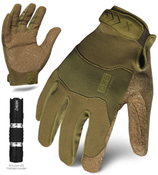 M - EXO Tactical Operator OD Green w/Flashlight | EXOT-GODG-03-M | IRONCLAD TACTICAL GLOVES (12/Pkg.)
