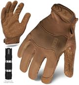XXL - EXO Tactical Operator Coyote w/Flashlight | EXOT-GCOY-06-XXL | IRONCLAD TACTICAL GLOVES (12/Pkg.)