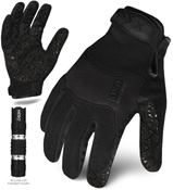 L - EXO Tactical Grip Black w/Flashlight | EXOT-GBLK-04-L | IRONCLAD TACTICAL GLOVES (12/Pkg.)