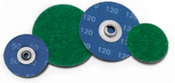 "3"" 80 Green Zirconia Twist-On Discs (50/Pkg.)"