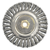 "4 x 5/8-11 Knot Wheel Brush, .020"" Steel Wire - Advantage (1/Pkg.)"