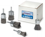 """1 x 1/4 Knot End Brush, .020"""" Stainless Steel Wire - Advantage (10/Pkg.)"""