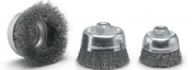 "3 x 1/4 Crimped Cup Brush, .012"" Stainless Steel Wire (10/Pkg.)"