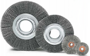 "3 x 1/4 Crimped Wheel Brush, .012"" Stainless Steel Wire (10/Pkg.)"