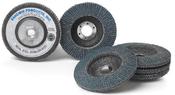 4-1/2 x 5/8-11 24-Grit Zirconia Flap Discs, Type 27/Flat Fiberglass (10/Pkg.)