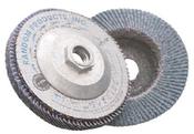 4-1/2 x 5/8-11 60-Grit, Zirconia Type 27/Flat Fiberglass Discs (10/Pkg.)