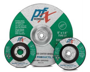 4-1/2 x 1/4 x 5/8-11 Type 27 Wheels, PFX/Germany-Masonry-Stone-Concrete-Cast Iron (10/Pkg.)