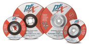 4-1/2 x 1/4 x 7/8 Type 27 Wheels, PFX/Germany, High Performance Zirconia (25/Pkg.)