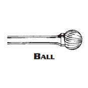 BALL SHAPE CARBIDE BURR SD-3 ALUMINUM CUT 3/8 BALL x 1/4 (1/Pc.)