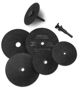 1/4 Arbor Hole x 1/4 (M-22) Cut Off Wheel Adapter (100/Pkg.)