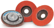 4-1/2 x 5/8-11 36-Grit Type 27 Ceramic Flap Discs (10/Pkg.)