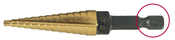 "1/4-3/4"" Type 78-QRN Titanium Nitride Coated Step Drill (1/Pkg.)"